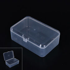 New Small Transparent Plastic Storage Box clear Square Multipurpose display UK