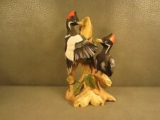 Shafford Ceramic Hand Painted Pileated Woodpecker Figurine