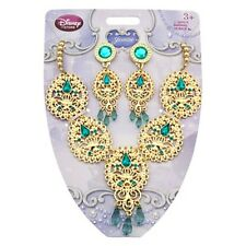 Girls JASMINE JEWELRY SET Necklace + Earrings Disney Store Child Princess Toy