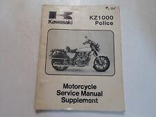 1984 Kawasaki KZ1000 Police Service Manual Supplement WATER DAMAGED DEAL