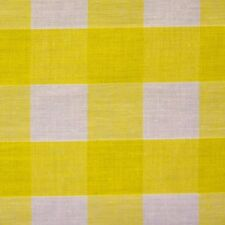 "Yellow and White 1"" Check Gingham Fabric *Per Metre* XL"