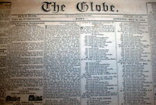 1833 Washington Globe DC newspaper w 2 front page ADs Wanted to buy NEGRO SLAVES