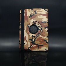 Brown Camo Rotating PU Leather Magnetic Case Smart Cover Stand For iPad 2 3 4