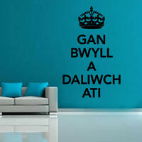 Keep Calm In Welsh Decal Vinyl Wall Sticker Art Home Sayings Popular