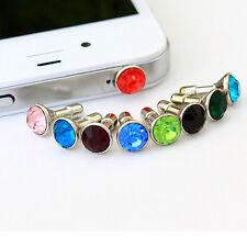 Wholesale Crystal 3.5Mm Dust Plug Earphone Jack For Iphone 6 Plus 5S 4S Random