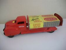 Vintage Lincoln Coca Cola Delivery Truck Pressed Steel With Case Cover
