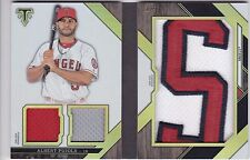 Albert Pujols Angels 2016 Triple Threads Jumbo Booklet Relic Patch Letter 1/3