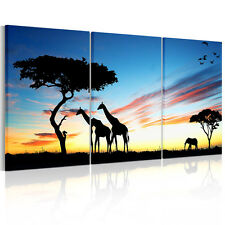 Large Blue Sky Giraffe Unframed HD Canvas Art Print Wall Hanging Art Poster