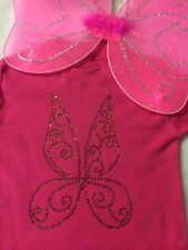 Tinkerbell Fancy Dress Costume Sparkle Bling Baby Toddler Girls Neon Tutu Wings