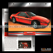 #020.03 ★ PONTIAC FIERO GT V6 1985 ★ Fiche Auto Car card