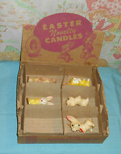 vintage Easter GURLEY NOVELTY CANDLE candles & ORIGINAL STORE DISPLAY BOX