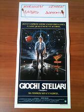 GIOCHI STELLARI locandina poster The Last Starfighter Sci Fi Fantascienza 1984