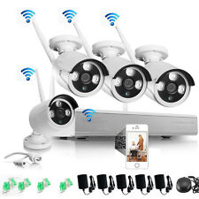 4PCS Wireless 960P 1.3MP Outdoor Camera 4CH NVR Video Security Camera System New