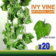 20X 2.4M Artificial Leaf Ivy Vine Plant Garland Fake Foliage Green Decoration