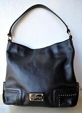 RARE OROTON Mystical Hobo Bag Black Full-grain Leather Studded Detail Sold Out!