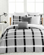 Lacoste Paris Bedding FULL / QUEEN Duvet Cover & Shams Set Grey B1161