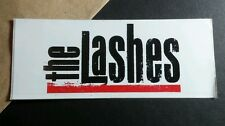THE LASHES CAN WILL DO YOU GET IT WHITE RED BLACK 2x5 MUSIC STICKER