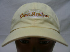 GREEN MEADOWS - GOLF - EMBROIDERED - ADJUSTABLE BALL CAP HAT!