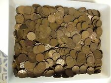 "1000 Old Wheat Cent Pennies All ""S"" MINTS Great Mix Of Dates."