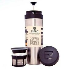 Espro Travel Press - French Coffee Press, Double Wall Polished Stainless, 10oz