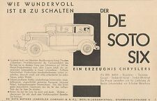 Y4348 Automobile DE SOTO SIX Chrysler - Pubblicità d'epoca - 1929 Old advert