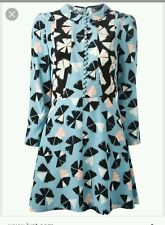 Marc By Marc Jacobs pinwheel dress/tunic size 6 GUC 400$ blue/black/white floral