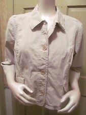 TALBOTS Beige Cotton Stretch Jacket w/ Pockets 18 XL