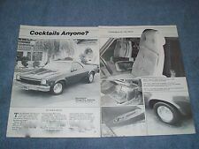 "1973 Chevy El Camino Vintage Street Machine Article ""Cocktails Anyone?"""