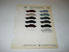 1946 STUDEBAKER PAINT CHIP CHART COLORS SHERWIN WILLIAMS