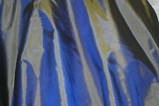 "Yellow/Blue Tissue Taffeta, 100% Silk Fabric, 44"" Wide, By The Yard (TS-7314)"