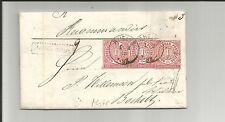 Preussen V. / RHEINE 1.2.68, 2 Grot.-K1 auf Recom.-Brief m. 3 x NDP 4 1868