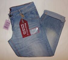 TAGGED @ £45.00!!   OASIS MOONSTONE EXTRA LOW RISE, ROLLED HEM CROP JEANS. SZ 14