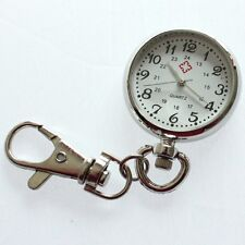 Brand New Silver Fashion Keychain Key Ring Nurse Pendant Pocket Clip Watch GL47