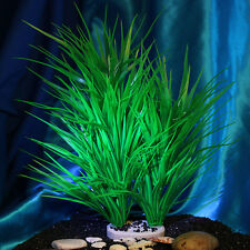 Artificial Plant Grass Green Plastic Aquarium Fish Tank Decoration Ornament