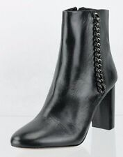 Coach Teagan Black Leather Ankle Boots Women's Shoes Size 6.5 M NEW RTL $ 224