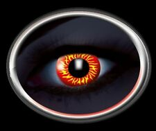 ZOE UV glow wolfeye lentille de couleur lens yellow red contact halloween rouge
