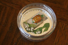 2015 Canada Fine Silver Coin Murano Venetian Glass Turtle Broadleaf, No Sale Tax