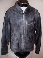 EDDIE BAUER Large L vintage motorcycle Leather Jacket Combine ship w/Ebay cart