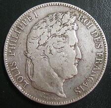 Ecu de 5 Francs - 1833 W -  LOUIS-PHILIPPE I - II° Type Domard - Tranche relief