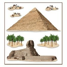 Cairo Egypt PYRAMID & SPHINX PROPS Party wall Decorations WORLD PARTY