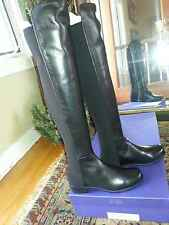 Stuart Weitzman Black Napa 5050 NEW IN BOX  Over the Knee Leather Boots 7.5M