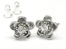 Neu OHRSTECKER Blüten SWAROVSKI STEINE crystal/kristallklar OHRRINGE Blüte BLUME