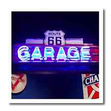 America USA Route 66 Neon Garage Sign Mancave Bar Basement Decoration Decor NEW