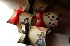 Alice in Wonderland Vintage Style Pillow Boxes - Set of 8