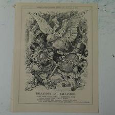 """7x10"""" punch cartoon 1925 BALKANDUM AND BALKANDEE bulgaria / greece"""