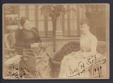 Princess Mary Adealide & Queen Mary 1890 Signed Cabinet Photo by Russell