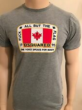 """Mens Bnwt White Dsquared2 All But The Flag Tshirt Grey Size XXL 46""""Chest"""