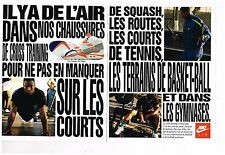 Publicité Advertising 1990 (2 pages) Les Baskets Nike Air avec Bo Jackson