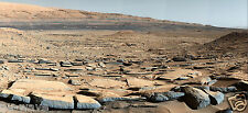 NASA's Curiosity Rover Magnificent shot - Dried Lake Bed-Large 9x19 Glossy Photo
