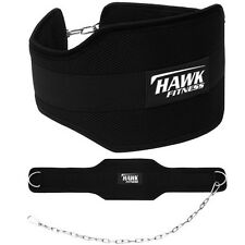 Hawk Fitness Dipping Belt Body Building Weight Lifting Dip Chain Gym Pull up bar